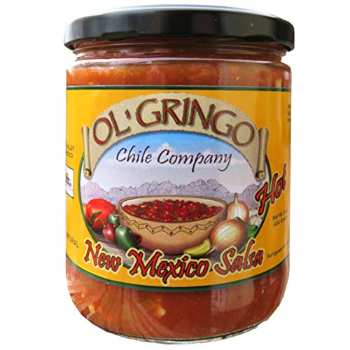 Jalapeno Salsa - Ol' Gringo New Mexico Salsa -Hot Heat- (16 oz Jar) Authentic Hatch Valley New Mexico Recipe