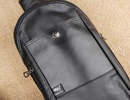 En Pu Hommes Élégant Dos Sac Cuir Mode À Sports noir Multifonction De Le Air Pour Plein L'homme Épaule Bandoulière 8YfWw