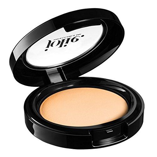 Jolie Cosmetics Baked Hydrating Powder Foundation - Ultra Smooth Velvety Finish (Light/Medium)