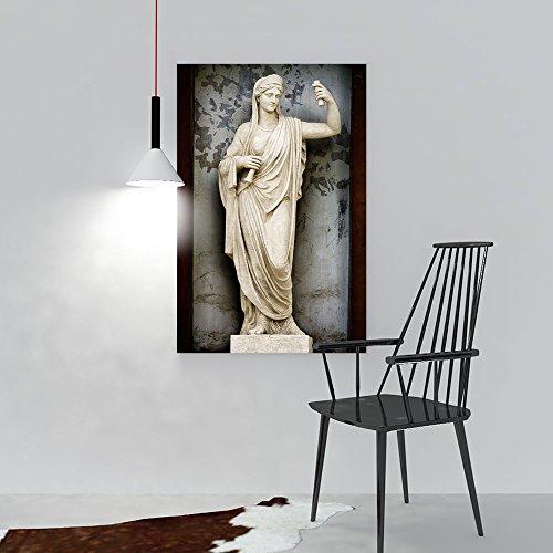 Wall Art Painting Frameless Sculpture Athene Ancient Greek Mythology The Goddess Wisdom fair war. Posters Wall Decor Gift W12 x H16 -