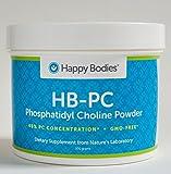 HB-PC Phosphatidyl Choline-40%, 300 g, GMO-FREE Powder (HBPC) Happy Bodies