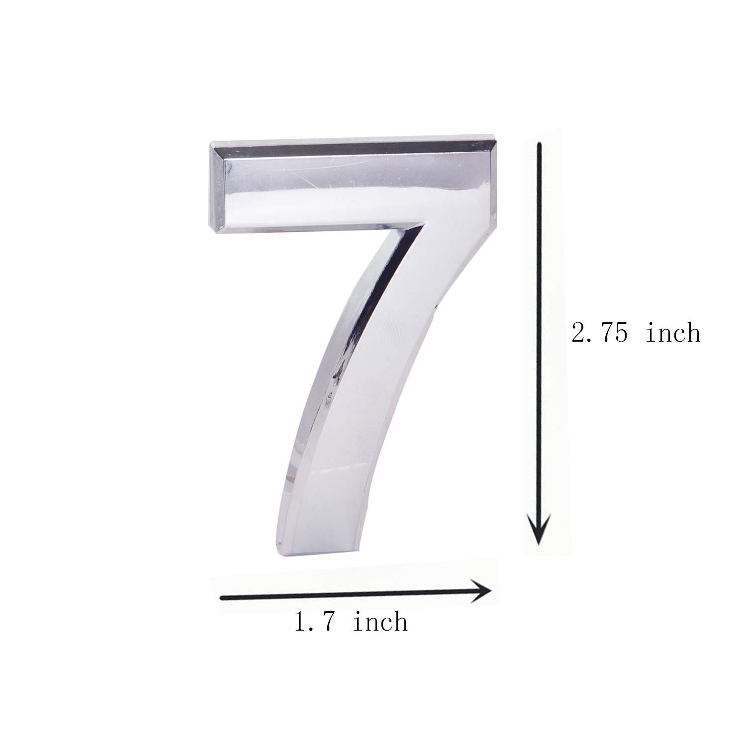 Double 9 2.75 Inch Self Adhesive House Numbers Door Address Number for Mailbox//Home//Hotel//Office//Condo//Apartment Silver