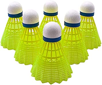 12x Federbälle Badmintonball Federball Bälle Badmintonbälle Badminton Grün Blau