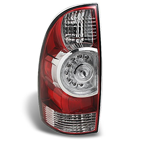 Toyota Brake Tacoma (Toyota Tacoma Pickup Truck Red Clear Rear Tail Lights Brake Lamps Driver Left Side Replacement)