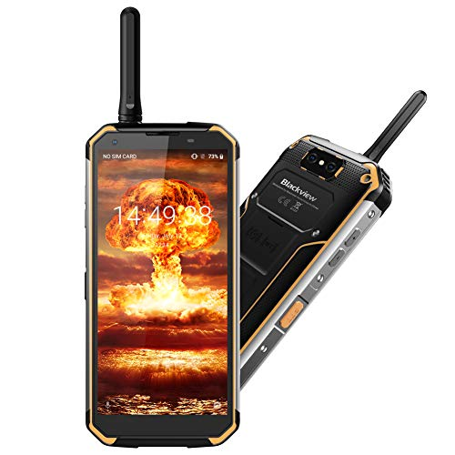 Blackview BV9500 Pro Smartphone Waterproof IP68, [MIL-STD 810G] Octa Core 2.5GHz 6GB+128GB 5.7 Inch FHD+ IPS 10000mAh Factory Unlocked SIM Free 4G Cellphone with Two Way Radios Walkie Talkie (Yellow)