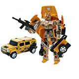 Transformable Robot with Light and Sound Action...