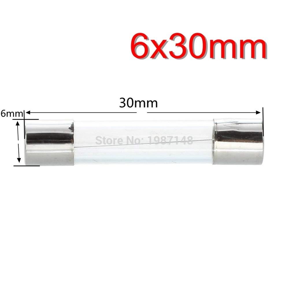 30mm 0.2A 200ma 250V Glass Fuse 6 Davitu 10pcs//lot 6 30 F0.2A 250V Fast Glass Fuse New and original