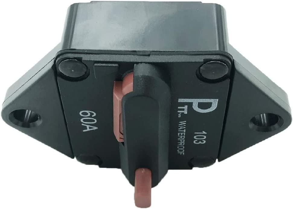 48V DC PHOTO-TOP 120A Circuit Breaker Panel Mount with Manual Reset for Marine Auto Truck ATV 12V