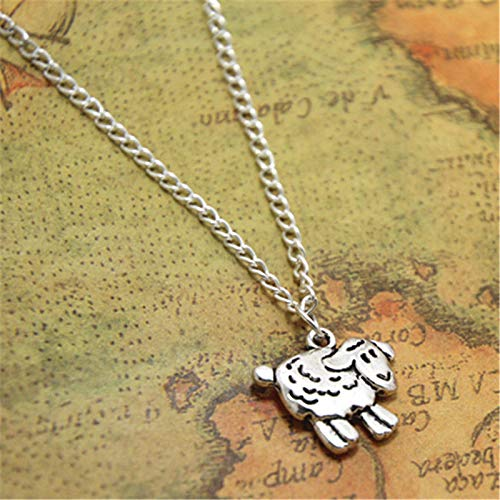 Sheep Necklace Sheep Charm Pendant Sheep Jewelry Farmer Gift, Farmer Shepherd