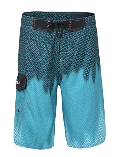 Nonwe Men's Beachwear Cool Quick Dry Board Shorts with Mesh Lining Blue 28
