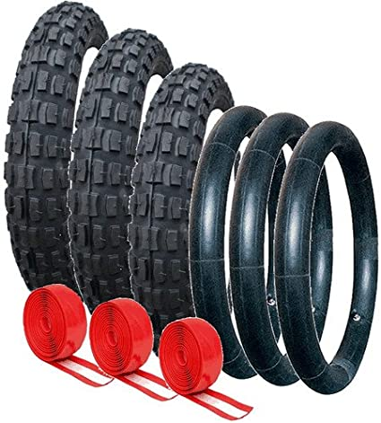 SET OF PUNCTURE PROTECTED TYRES /& TUBES FOR OUT N ABOUT PUSHCHAIRS