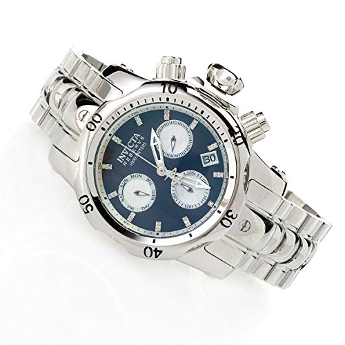 Invicta Reserve 46mm Venom Swiss Quartz Chronograph Diamond Accented Stainless Steel Bracelet Watch