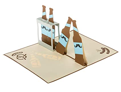Amazon Beer Pop Up 3d Greeting Birthday Card With Envelope For