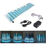 E Support 45 x 11cm Sound Music Activate Sensor Car Auto Sticker LED Light Equalizer Glow Blue