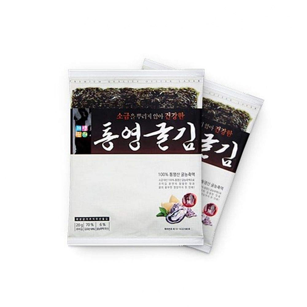 Korea Seaweed with Tongyeong Oyster Extract Full Size 20g(6 sheets) x 10 packs