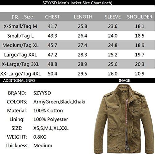 black Camicia Szyysd Uomo 8255 Giacca zvFqw6