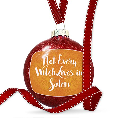 (NEONBLOND Christmas Decoration Not Every Witch Lives in Salem Halloween Orange Wallpaper)