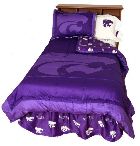 - Kansas State Wildcats (3) Piece KING Size Reversible Comforter Set - Includes: (1) KING Size Reversible Comforter and (2) Pillow Shams - Save Big By Bundling!