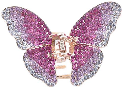 Swarovski Crystal Hair Clip - HP300 Retro Butterfly Hair Claw Clip