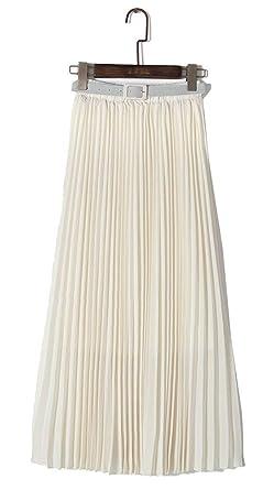 Faldas Maxi De Gasa Mujer Esencial para Falda Maxi Elegante Falda ...