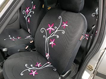 Peugeot 107 Car Seat Covers Full Set - Orchid Flower Design: Amazon ...