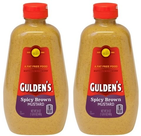 Spicy Brown Mustard, 24 oz,pack of 2 perfect for spreading on sandwiches