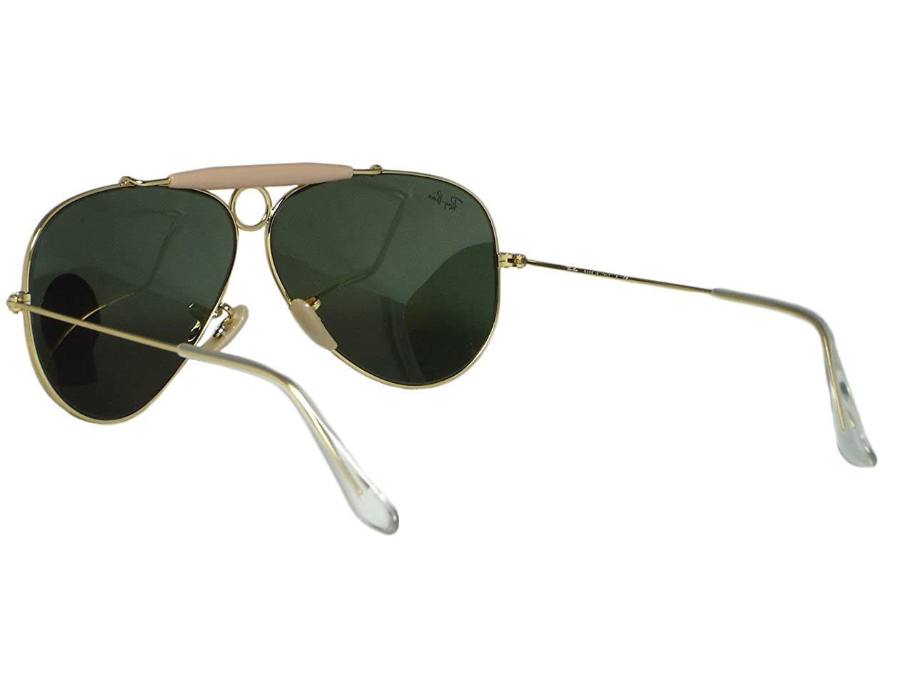 63fedc01be5 Amazon.com  Ray Ban RB3138 shooter 001 Gold Sunglasses 62mm  Clothing