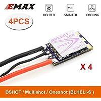 Crazepony 4pcs EMAX BLheli_S Bullet 20A ESC 2-4S Support Onshot42 Multishot D-shot for FPV Racing Multirotor