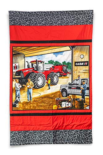 CaseIH Tractor and Combine Lap Quilt from J&D Productions, Inc.