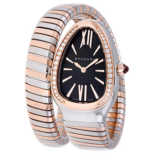 Bvlgari Serpenti Tubogas Black Opaline Dial Quartz Ladies Watch 102098