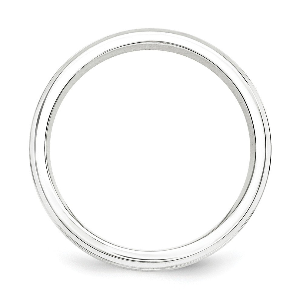 Sterling Silver 7mm Brushed Fancy Band Ring QWB111B