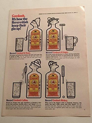 1970 Gordon's London Dry Gin Magazine Print (Gordons London Dry Gin)
