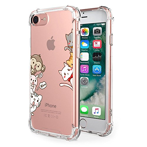 Price comparison product image iPhone 8 Case Clear Shock Absorption Technology Bumper Soft TPU Cover Case for Apple 8 (3,  iPhone 8)