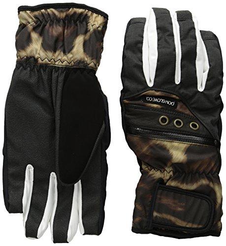 POW Women's Astra Glove, Cheetah, Large (Polypro Glove Liner)