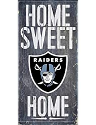 Oakland Raiders Official NFL 14.5 inch x 9.5 inch Wood Sign H...