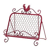 Decorative Romantical Red Rooster Home Kitchen Décor