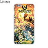Yellow Overwatch Junkrat Roadhog iPhone X Case, Black Action Game Hero iPhone 10 Cover Fictional Game Character Gaming Themed iPhone Casing Gift Games Shooter Gamer, Hard Plastic