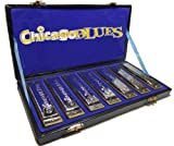 Chicago Blues KHCB-7A Complete 7 Major Key Harmonica Party Pack / Gift Set