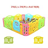 New! 2M x 2M x 0.63M Baby Kid Playpen Panel Activity Center Safety Fence Playyard