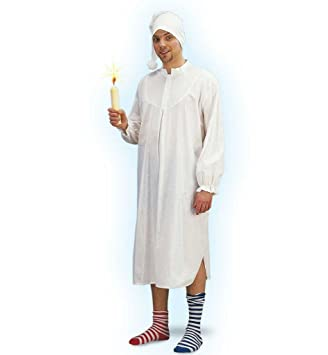 Fasching 11815 Kostum Nachthemd Mit Mutze Grosse M Amazon De