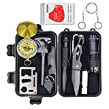 10 in 1 Emergency kit including tactical pen flashlight glass breaker pen