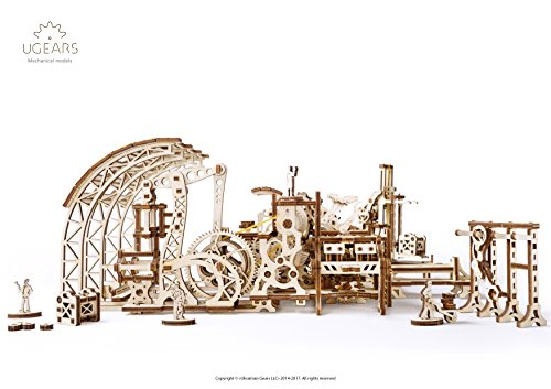 S.T.E.A.M. Line Toys UGears Mechanical Models 3-D Wooden Puzzle - Mechanical Robot Factory 4