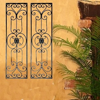 Amazon.com: Diangelo Tuscan Mediterranean Iron Wall Grille Set: Home ...