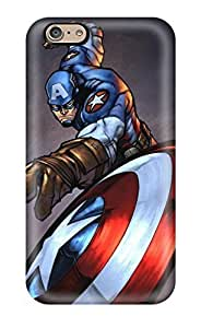 New Snap-on GoldenArea Skin Case Cover Compatible With Iphone 6- Captain America Iron Man