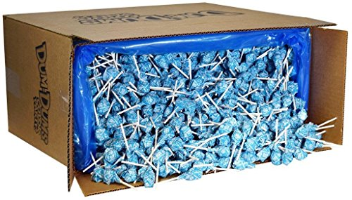 Dum Dums Color Party Lollipops, Ocean Blue, Cotton Candy Flavor, Bulk 30lb Box, 2,340 Count