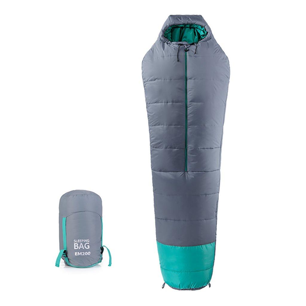 シングルスリーピングバッグ、暖かい、軽量、ポータブル、屋外キャンプ (色 : Gray, サイズ さいず : 200g/m2) B07FBM1Y8P  Gray 200g/m2