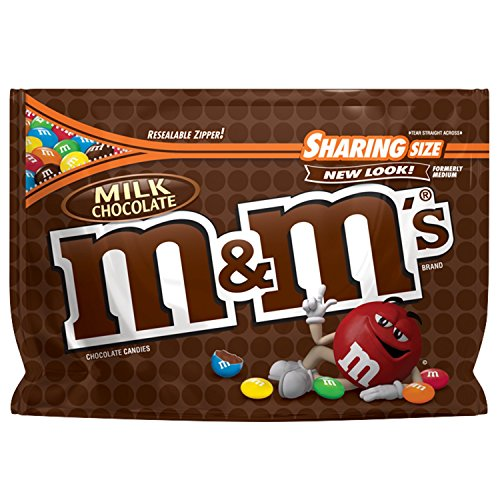 M&M'S Milk Chocolate Candy Sharing Size 10.7-Ounce Bag]()