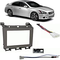Fits Nissan Maxima 2009-2014 Double DIN Harness Radio Install Kit - Gray Dash