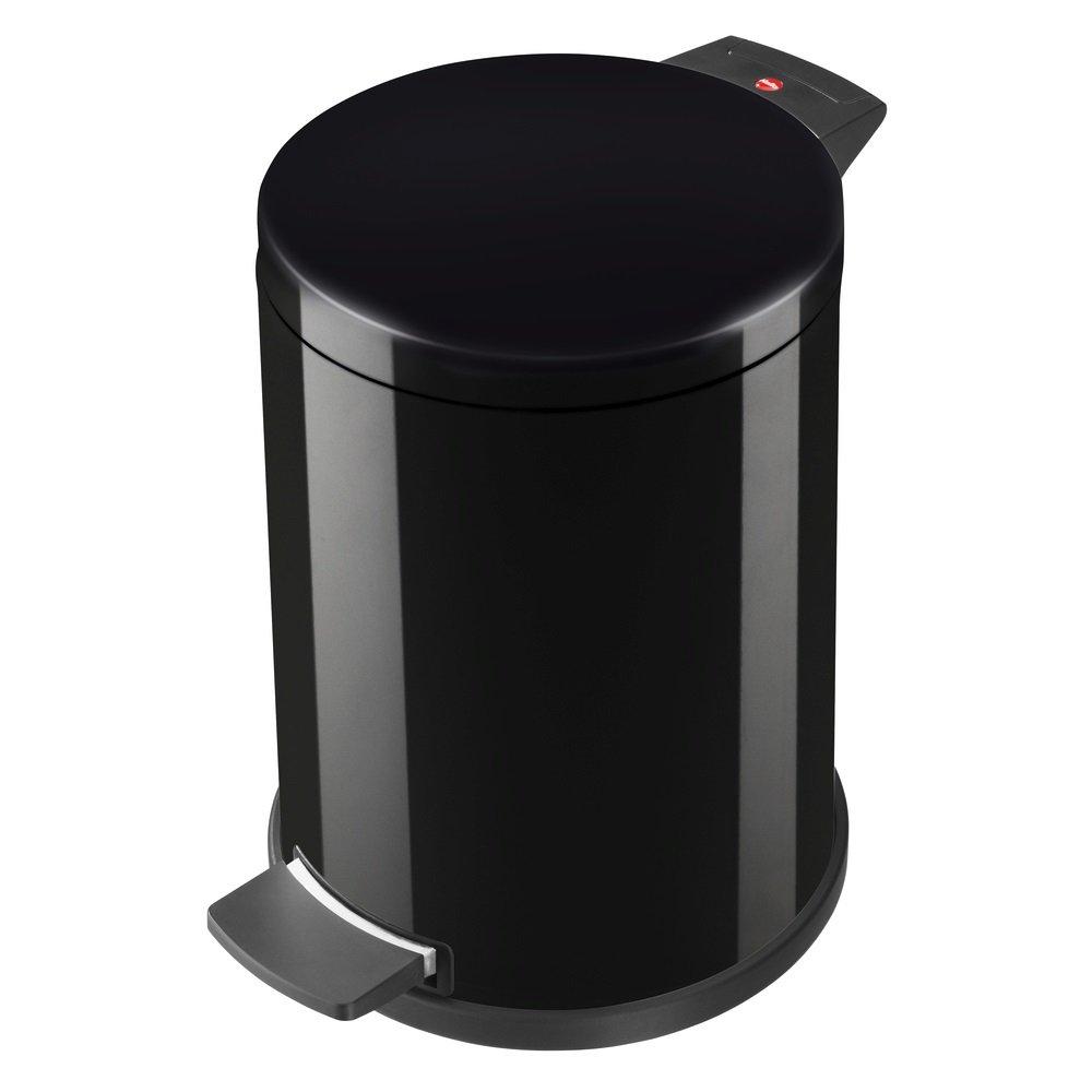 aus Stahlblech, 12 Liter, verzinkter Inneneimer, selbstl/öschend, Anti-Rutsch-Fu/ß Hailo ProfiLine Solid M M/ülleimer 0514-732