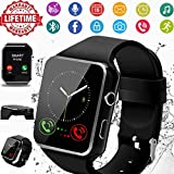 Smart Watch,Smartwatch for Android Phones, Smart Watches Touchscreen with Camera Bluetooth Watch Phone with SIM Card Slot Watch Cell Phone Compatible Android Samsung iOS Phone XS X8 7 6 5 (Black)
